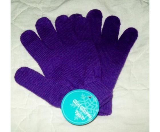 NEW Girls Gloves 1 Pair (Purple) FREE SHIPPING $3.00