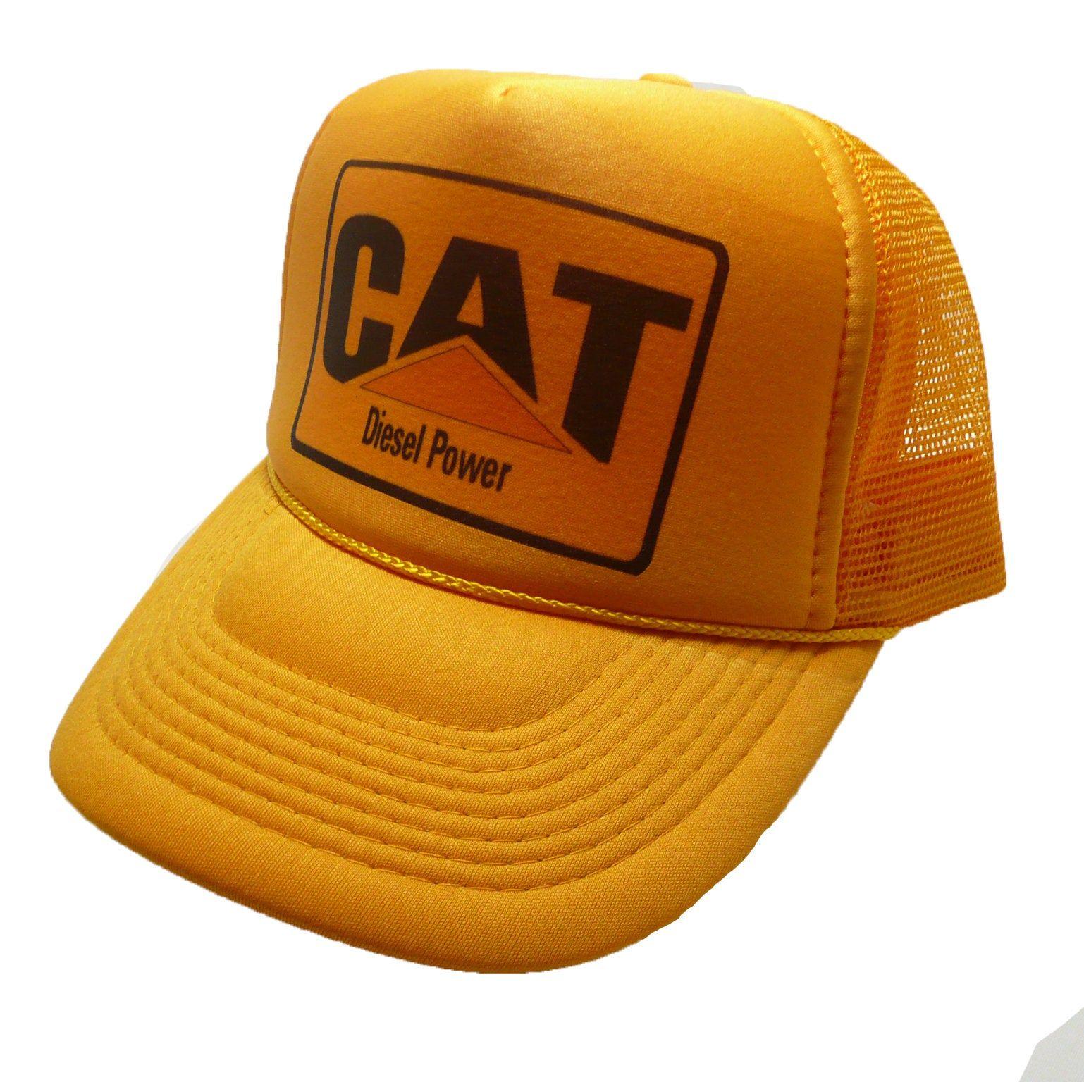Vintage CAT tractors hat trucker hat Diesel Power hat new