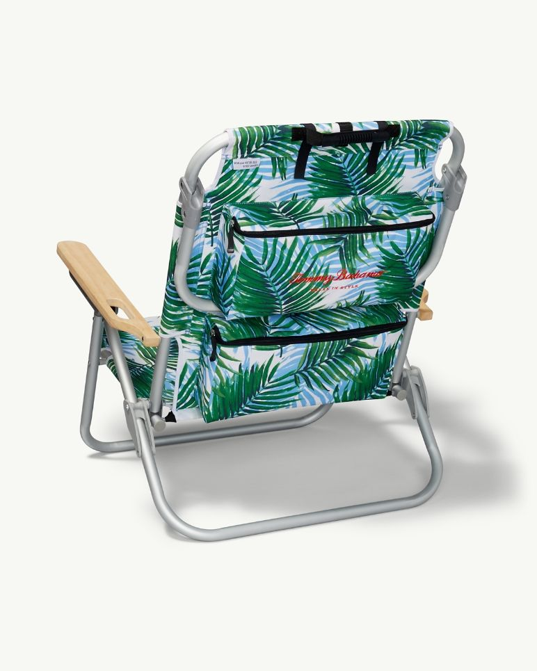 Superb Tommy Bahama Palm Print Deluxe Backpack Beach Chair In 2019 Squirreltailoven Fun Painted Chair Ideas Images Squirreltailovenorg