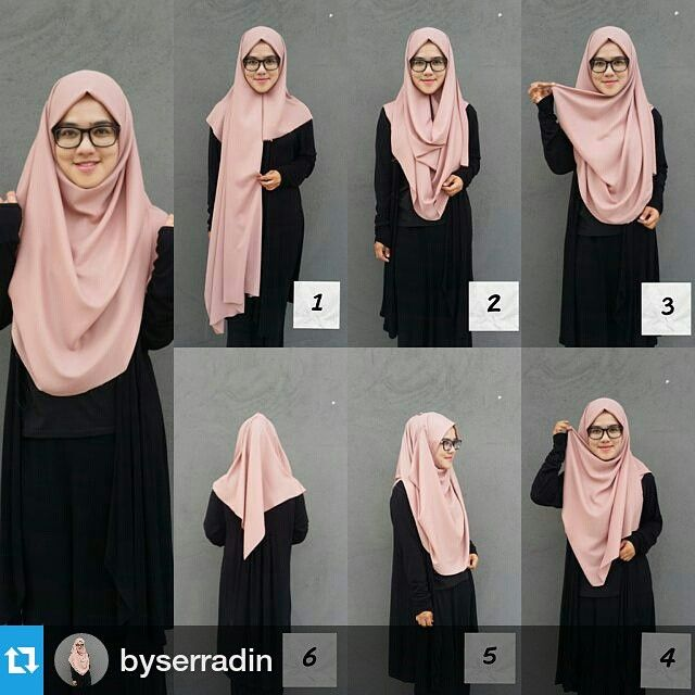 Hijab Syar I Insya الل ه Hijab Chic Tutorial Hijab Mudah