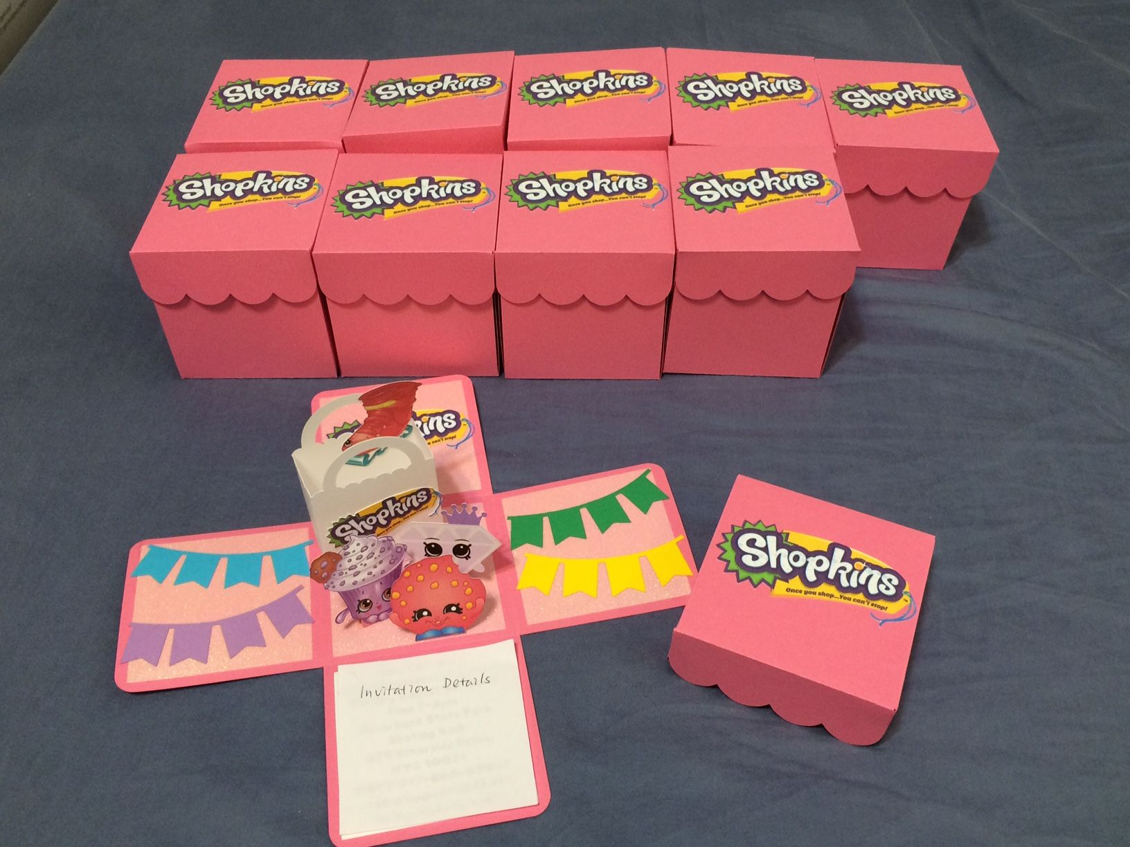 Custom D Invitations Shopkins Invitations Shopkins And - Creative diy birthday invitations in a box