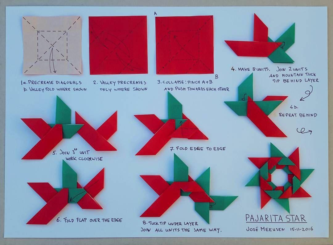 Diagrams Myowndesign Paperfolding Weloveorigamis Josemeeusen Christmas Origami Modularstar Papiroflexia Modularorigami Star Happyfolding