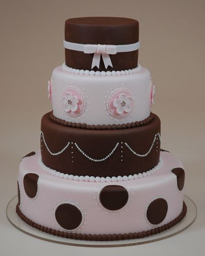 Two Tier Cake Chocolate And White