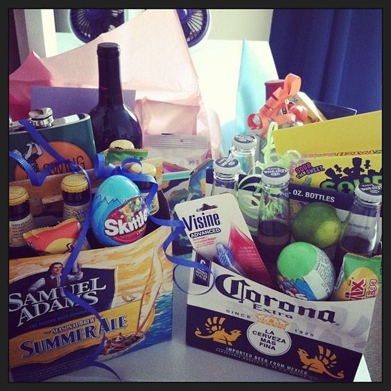 Adult Easter Basket    Who says Easter baskets are only for little kids? Give your guy an Easter themed basket that will make him smile!