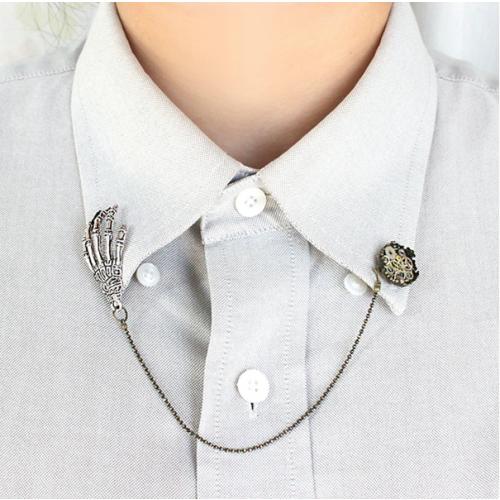 Vintage Claw Gear Design Collar Button Brooch