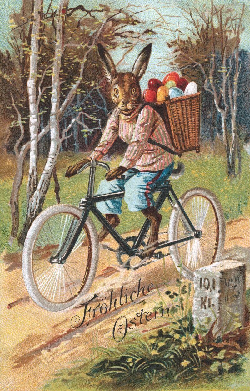 Easter Rabbit Postcard Book Vintage Images Pinterest Easter