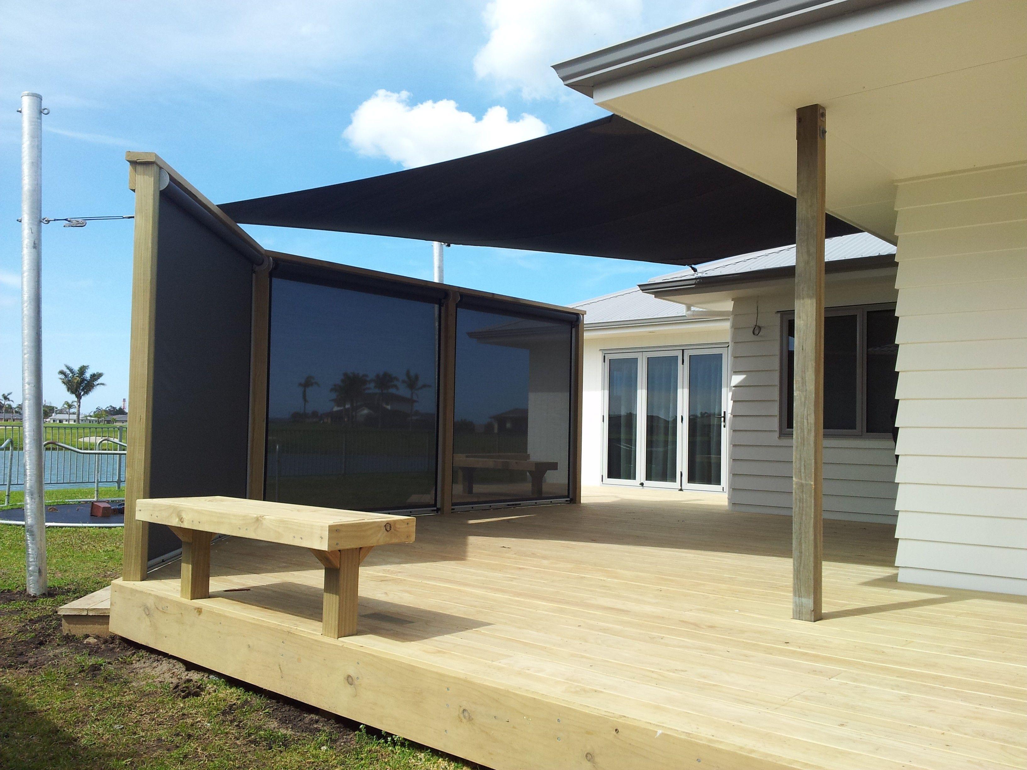 Residential Veranda Curtains Cool Deck Deck Building A Deck