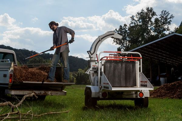 Chippers can make cleaning your yard or making your own mulch an easy task, but always remember that deadlines and job completion can wait – your safety matters. @alt. #altec #chippers #heavyequipment #mulch #landscaping