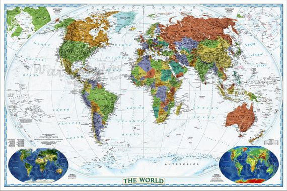 Custom 30x40 world political map map of the world world map map items similar to custom 30x40 world political map map of the world world map map of the world world map poster large world map world map print on etsy gumiabroncs Images