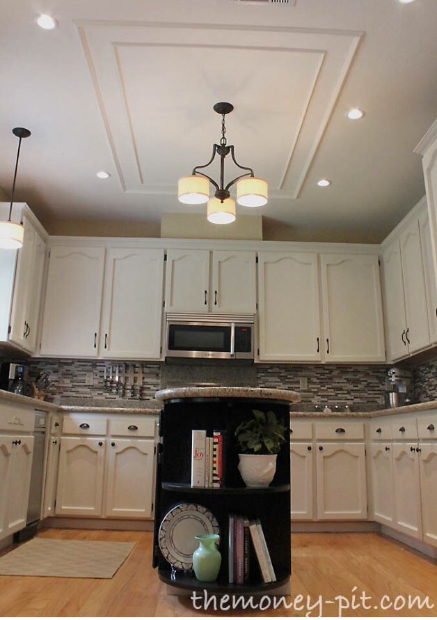 Above Kitchen Island After Removing Ugly Bulkhead New Home Sweet