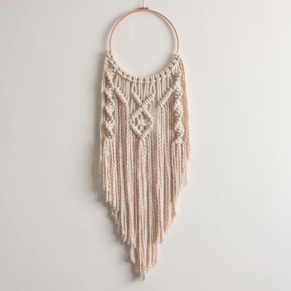 SALE  Macrame Hoop Dream Catcher  100% by ButtermilkDesignCo