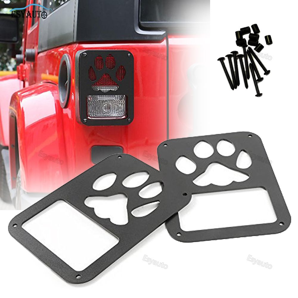 Pair Multi Options Trim Guards Protector External Accessories Dot Certification Individual Rear Tail Light Gu Dog Car Accessories Tail Lights Covers Car Lights