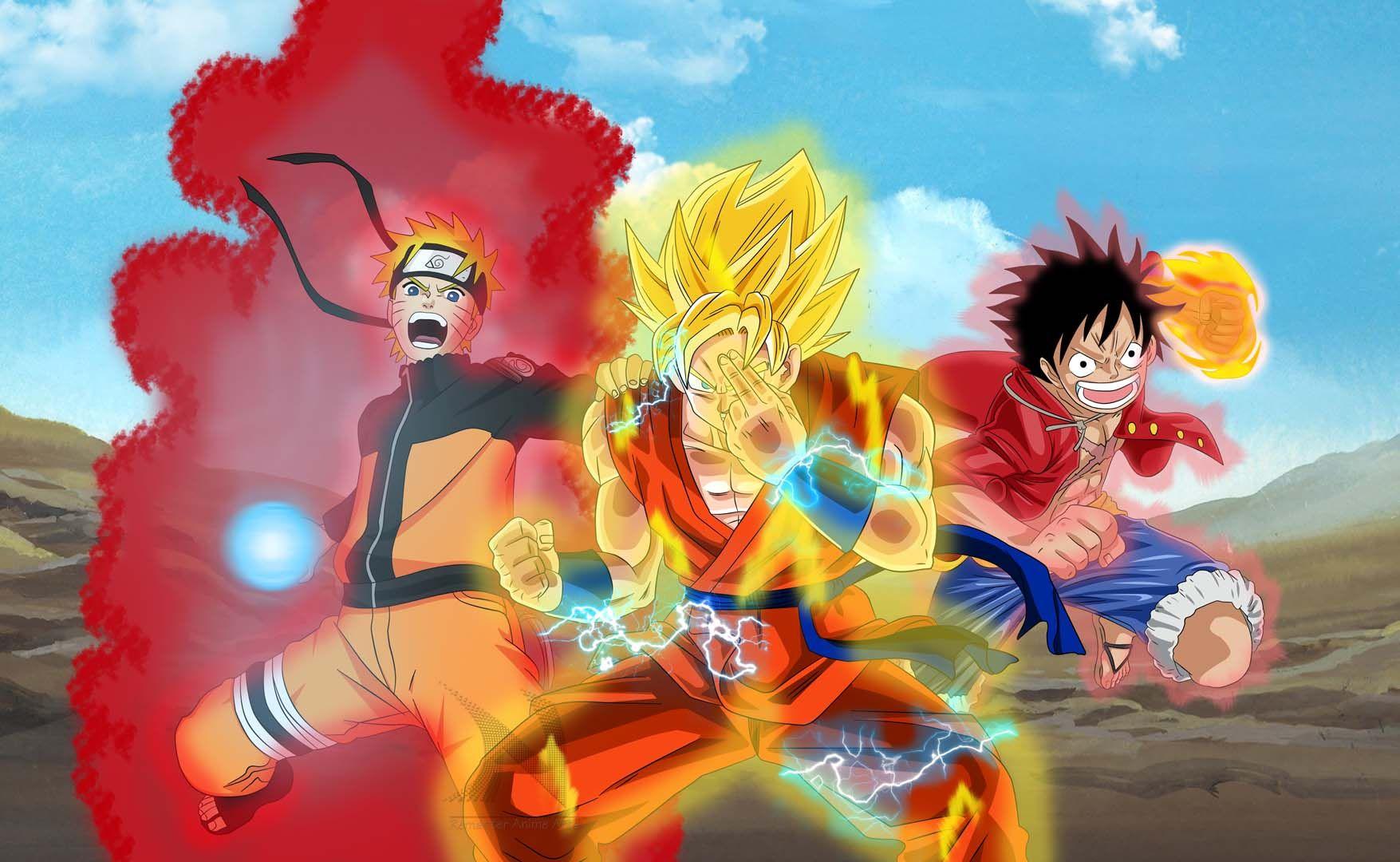 Fond D Ecran One Piece Naruto Fond Ecran Anime Luffy