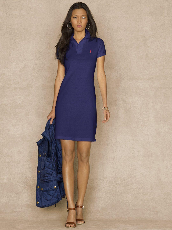 860d06b2 Cotton Mesh Polo Dress - Sale Dresses - RalphLauren.com   My Style ...