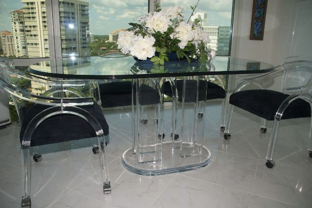 Plexiglass Dining Table | Acrylic Dining Tables : Acrylics of Naples ...