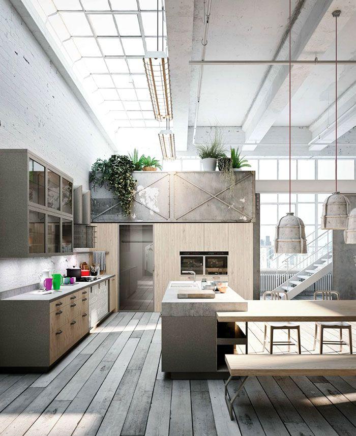 Loft Style Kitchen Design by Michele Marcon   Vintage und Designs
