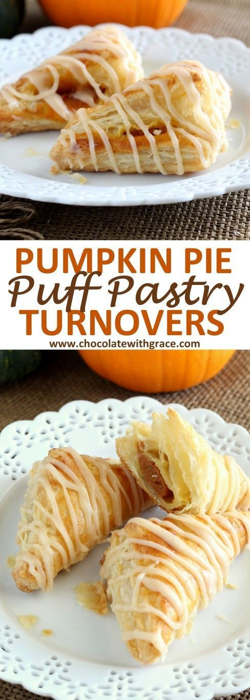An easy Thanksgiving dessert made with puff pastry, these pumpkin puffy pastry turnovers are perfect for dessert or brunch. Simple and easy to make like a hand pie.