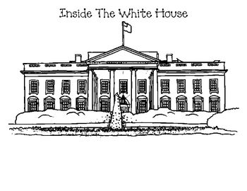 Clip Art Of Items And Rooms Found Inside Outside The White House National SymbolsFree Printable Coloring PagesAmerican
