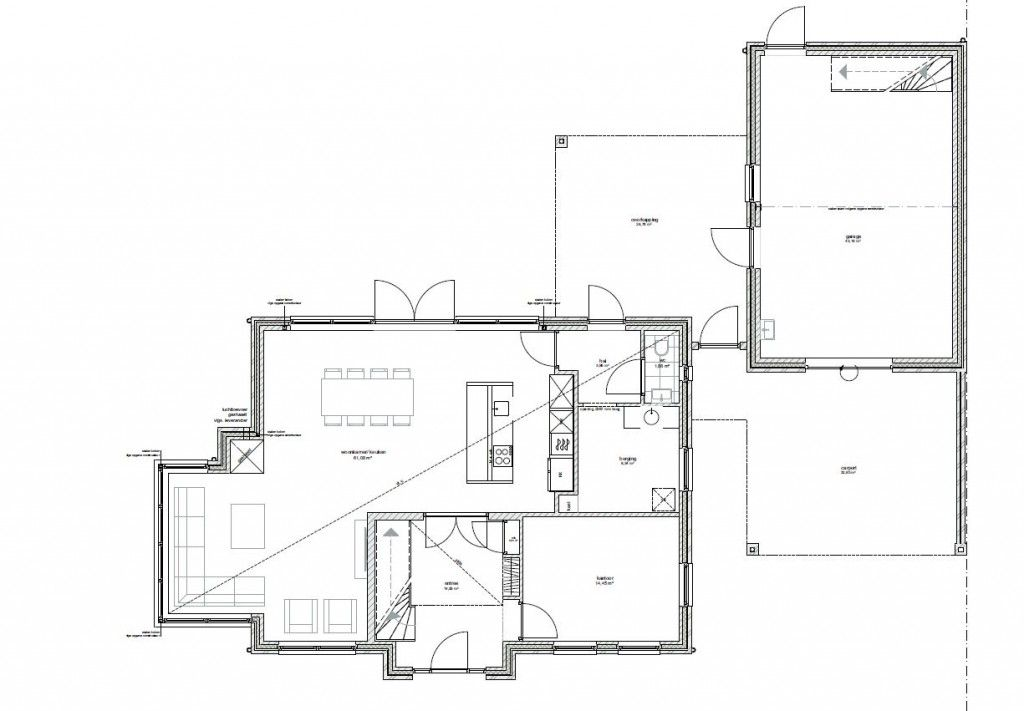 Plattegrond Woning Keuken In Het Midden Google Zoeken Plattegrond Floorplan Droomhuis