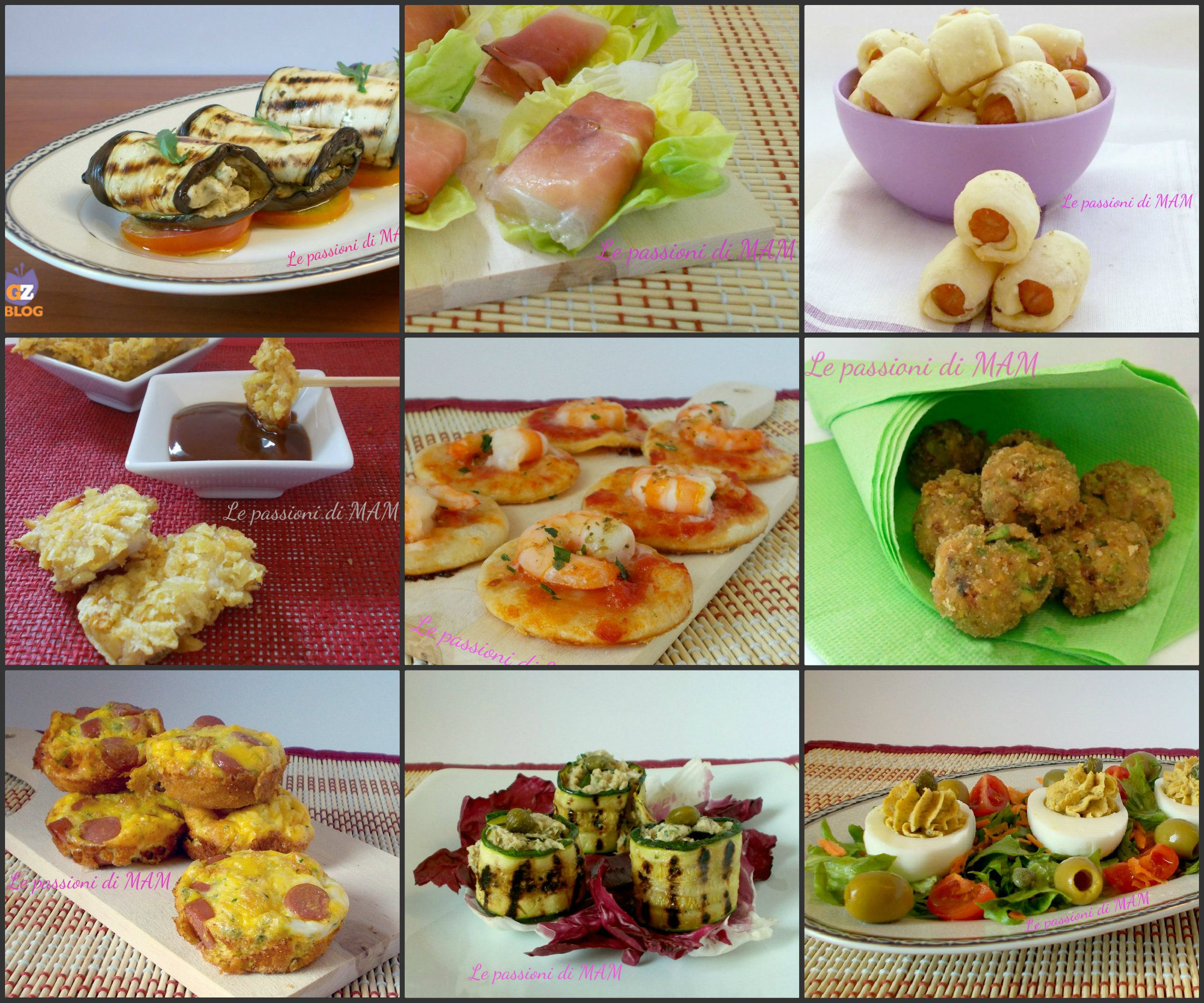 Ricette finger food aperitivi buffet e giallo for Antipasti ricette italiane