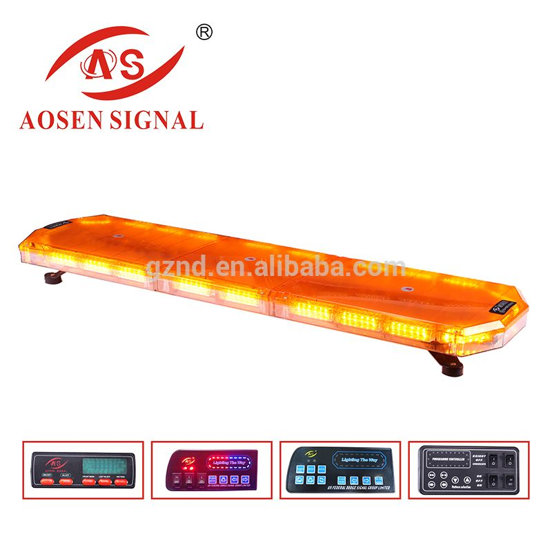 R65 Certificated 1200mm Amber Led Lightbar With Display Police