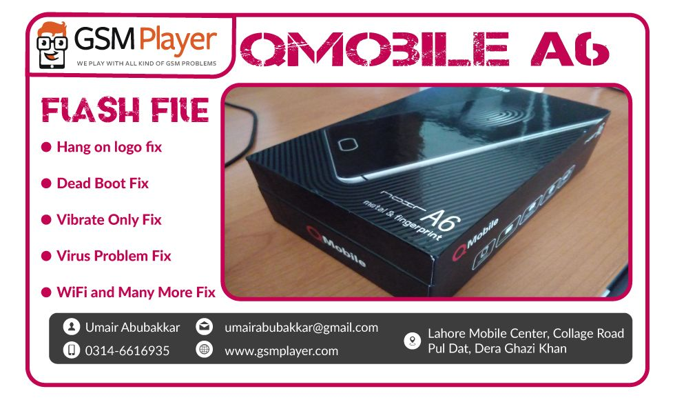 QMobile Noir A6 Flash File MT6735 v5 1 with Flash Tool 100