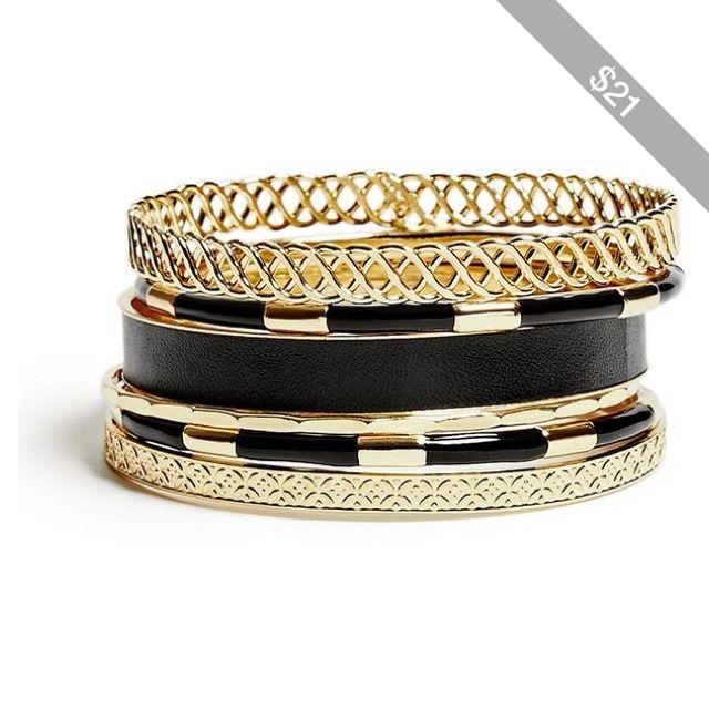 GUESS Selina Gold-Tone Bracelet Set