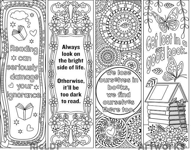 Printable bookmark templates | Free printable bookmarks ...