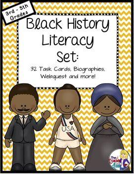 Ensemble d'alphabétisation sur l'histoire des Noirs   Activités du Mois de l'histoire des Noirs