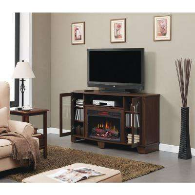 Grand Haven 59 in. Media Console Electric Fireplace in Walnut