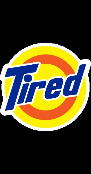 Tired Tide Logo Tide Logo Logos Logo Sticker