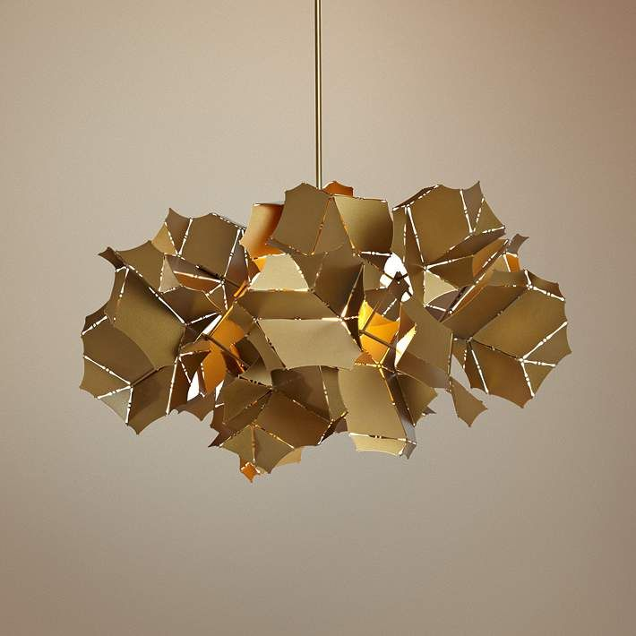 Vermont modern cumulus 25 wide gold pendant light