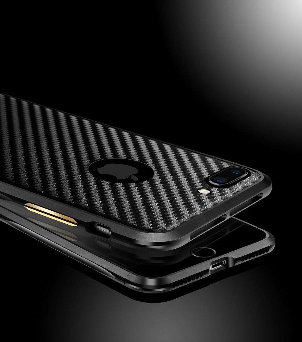 Medical research and corporate technology case mate iphone 4 case - Aluminum Case For Iphone 7 7 Plus Luxury Metal Frame Carbon Fiber Sticker Cover