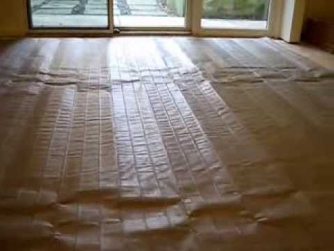 How To Install Nuheat Electric Heated Mat Radiant Flooring Under