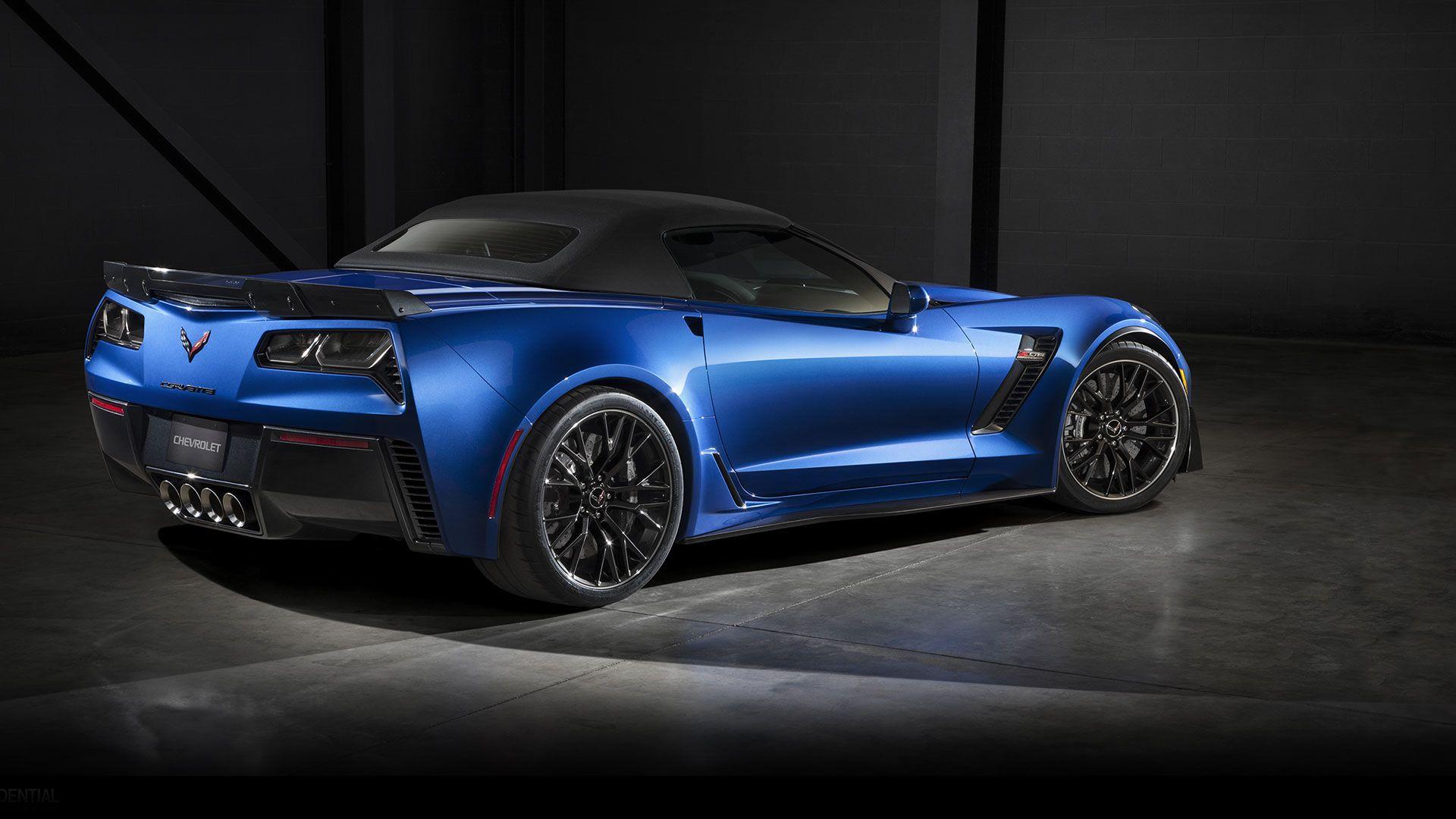 2015 Corvette Z06 convertible drag reduction Chevrolet