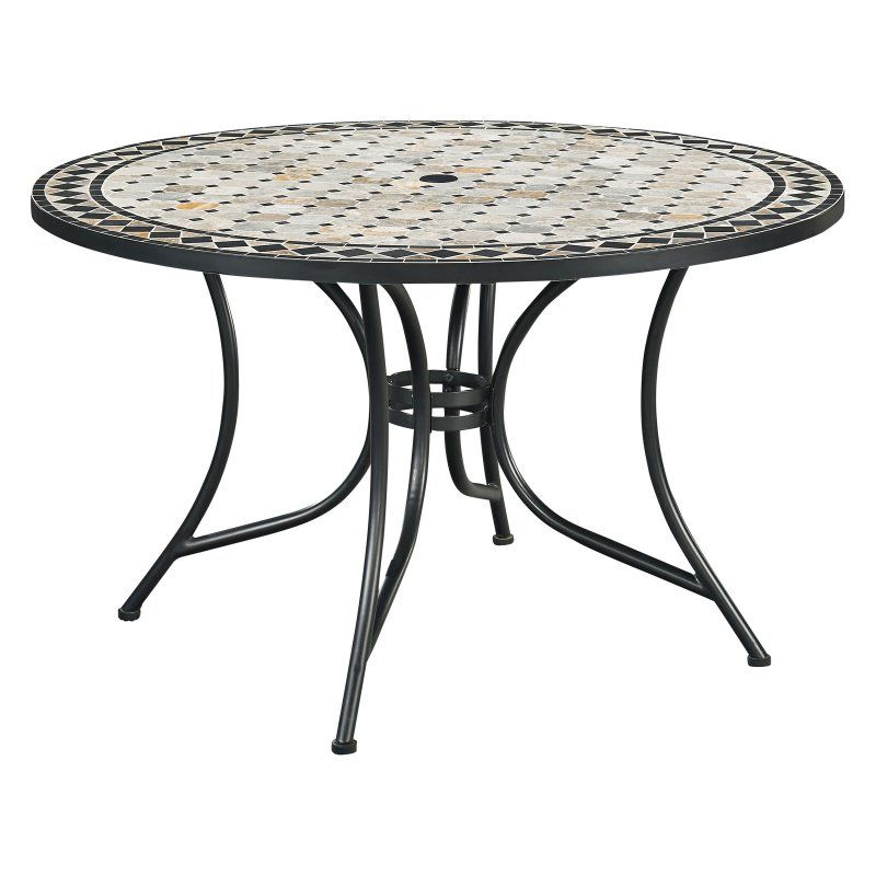 Home Styles Marble Top Round 51 In Outdoor Patio Dining Table
