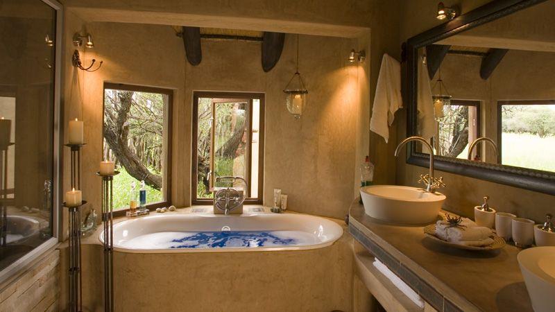 Your State Of The Art Bathroom At Okonjima S Grand African Villa Namibia Luxuryvilla