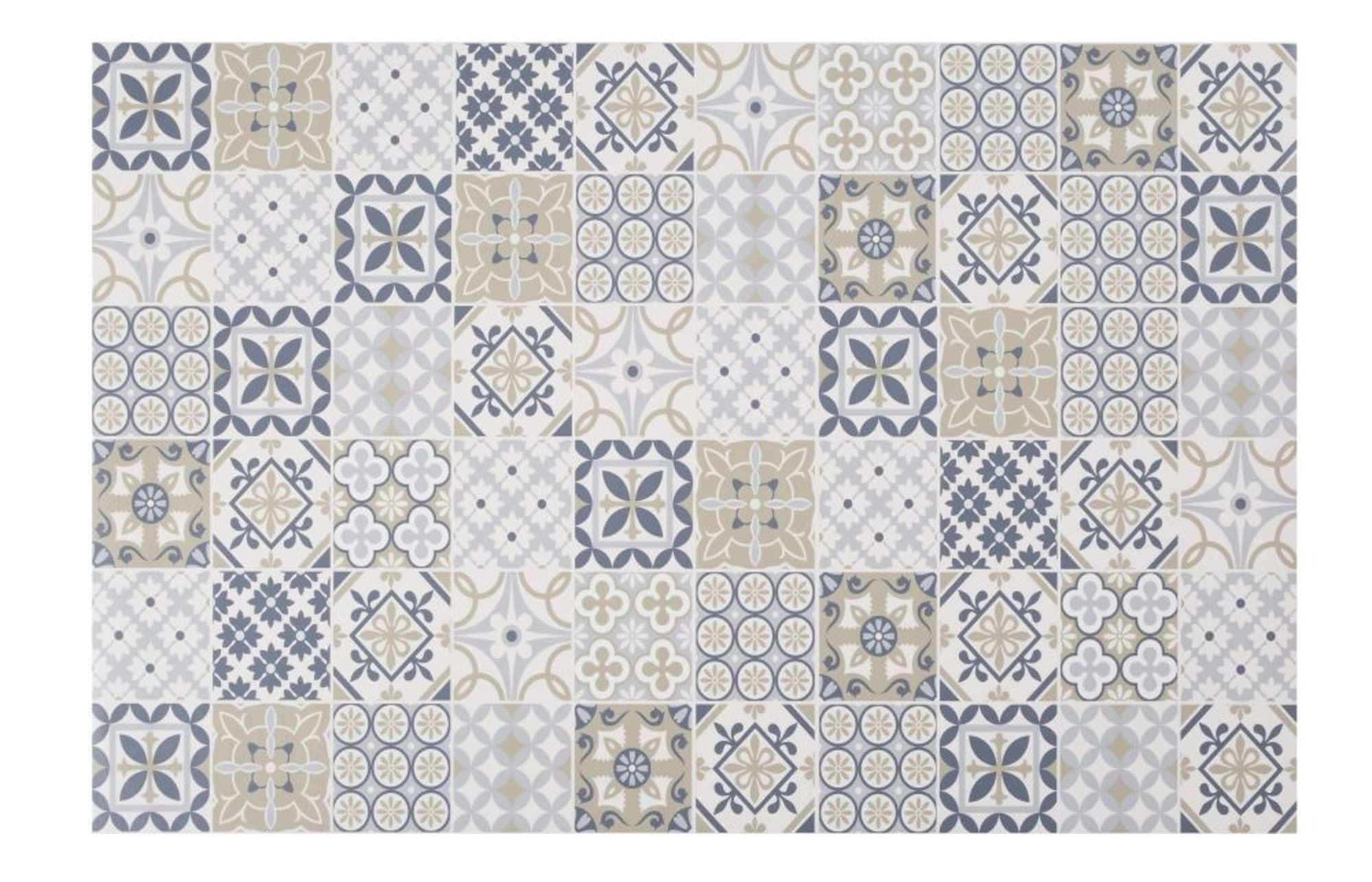 multicoloured cement tile print vinyl