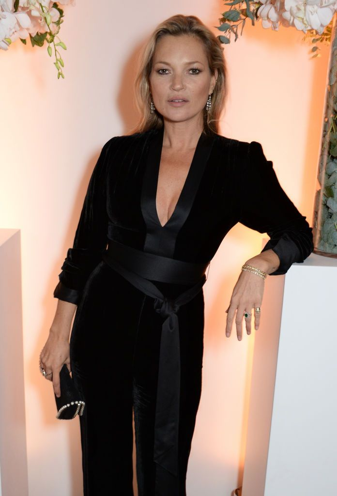 85b06d48502a Kate Moss stirs up cocktail hour in our Velvet Sash Jumpsuit at British  Vogue s one year anniversary celebrations for Editor-in-Chief Edward  Enninful.