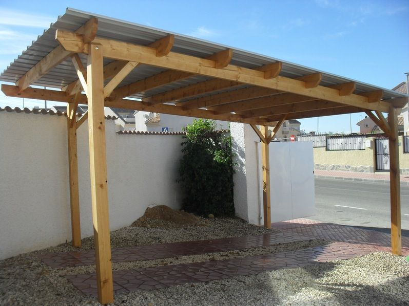 Inexpensive 2 car wood carport kit for amusing carports for Stand alone carport designs