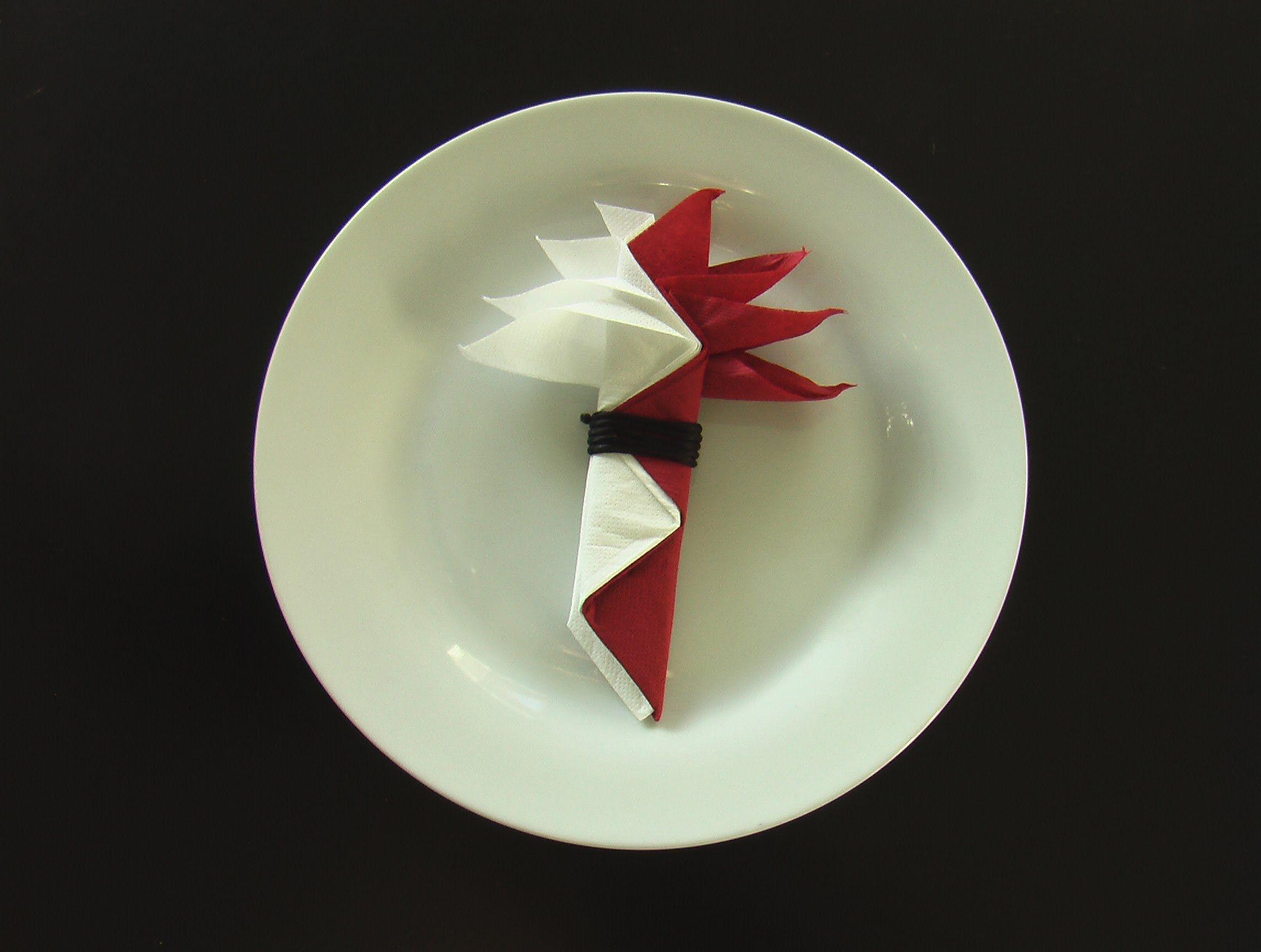 pliage serviette papier oiseau du paradis decorations pliage serviette papier pliage. Black Bedroom Furniture Sets. Home Design Ideas