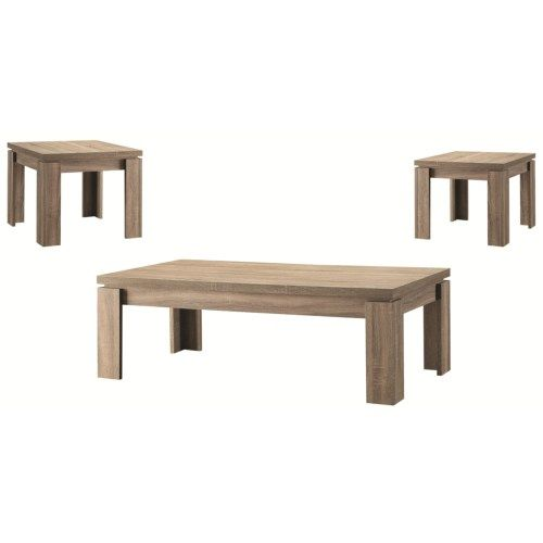 Coaster 3 Piece Occasional Table Sets Weathered 3PC Occasional Set   Coaster  Fine Furniture