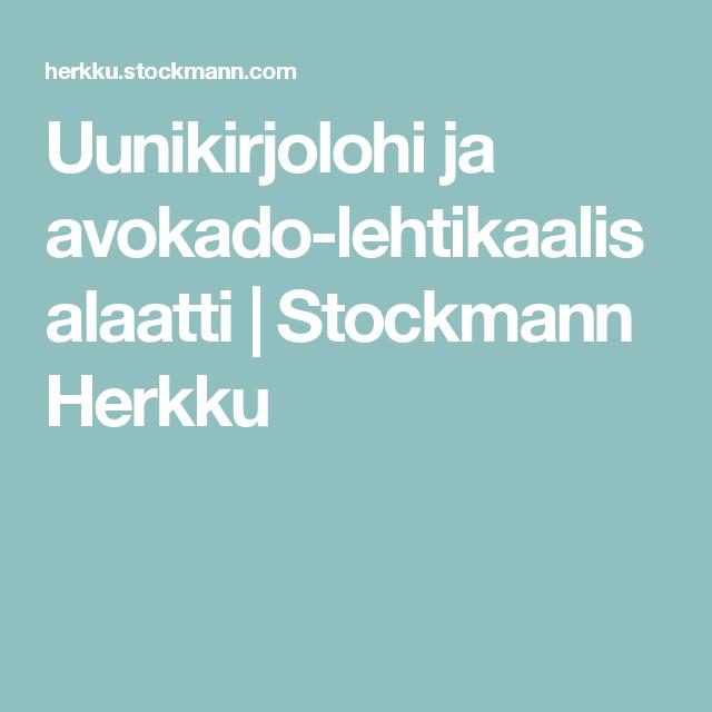 Uunikirjolohi ja avokado-lehtikaalisalaatti   Stockmann Herkku