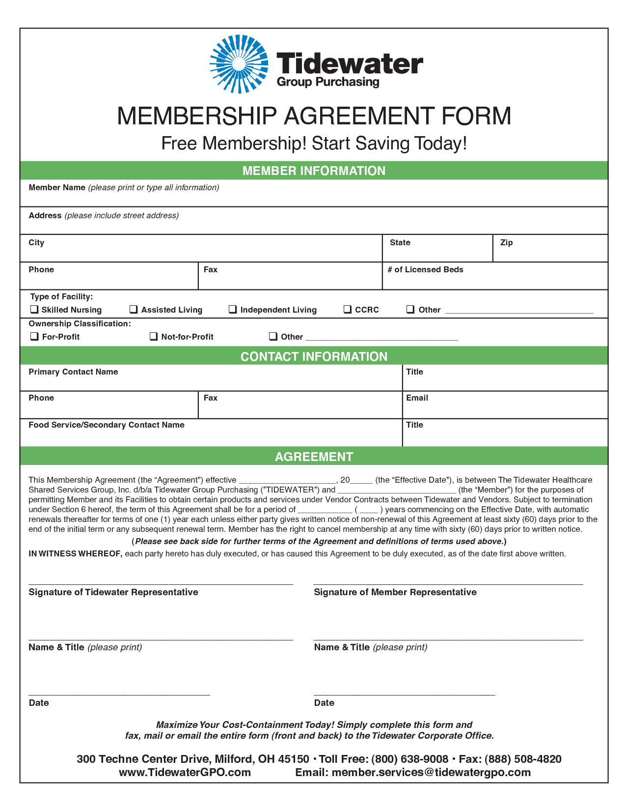 Membership Agreement Template  Invitation Templates  Membership