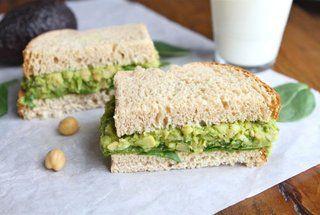 sanwich de palta y garbanzo, legumbres rocks!