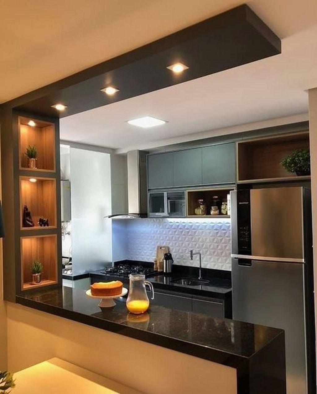 Semi Open Kitchen Designs: 20+ Unordinary Kitchen Colors Design Ideas That Looks Cool