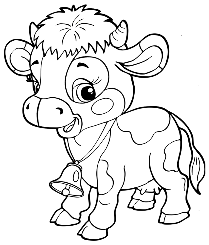 precious moments coloring pages cow - photo#7