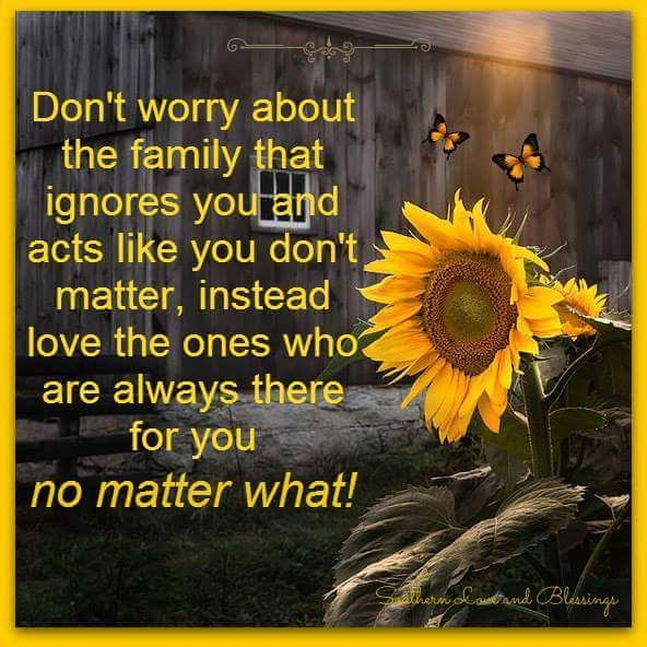 Don T Worry About The Family That Ignores You Family Quotes Bad Sunflower Quotes Words To Live By Quotes