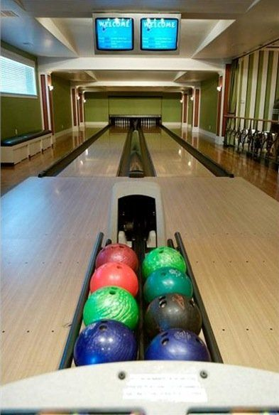 There Are Two Bowling Lanes In The House Kings Home Home Bowling Alley Luxury House Plans