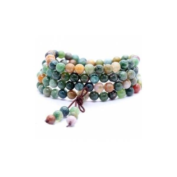 Tibetan Buddhist Agate Beads Bracelet (£4.12) ❤ liked on Polyvore featuring jewelry, bracelets, men's bracelets, white, white jewelry, beading jewelry, colorful bangles, agate bangle and white agate jewelry